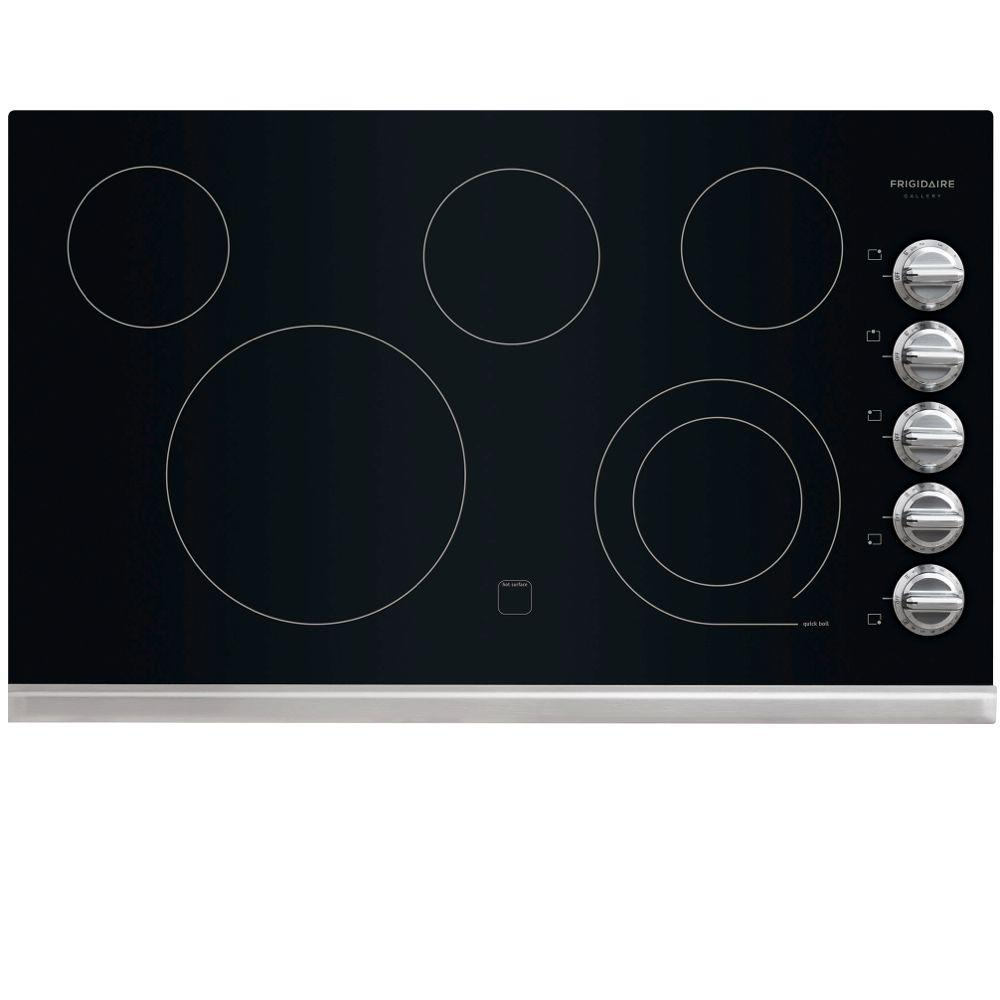 Frigidaire Gallery 36 in. Radiant Electric Cooktop in Stainless Steel with 5 Elements including a 6/9 in. Expandable Element