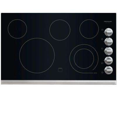 36 in. Radiant Electric Cooktop in Stainless Steel with 5 Elements including a 6/9 in. Expandable Element