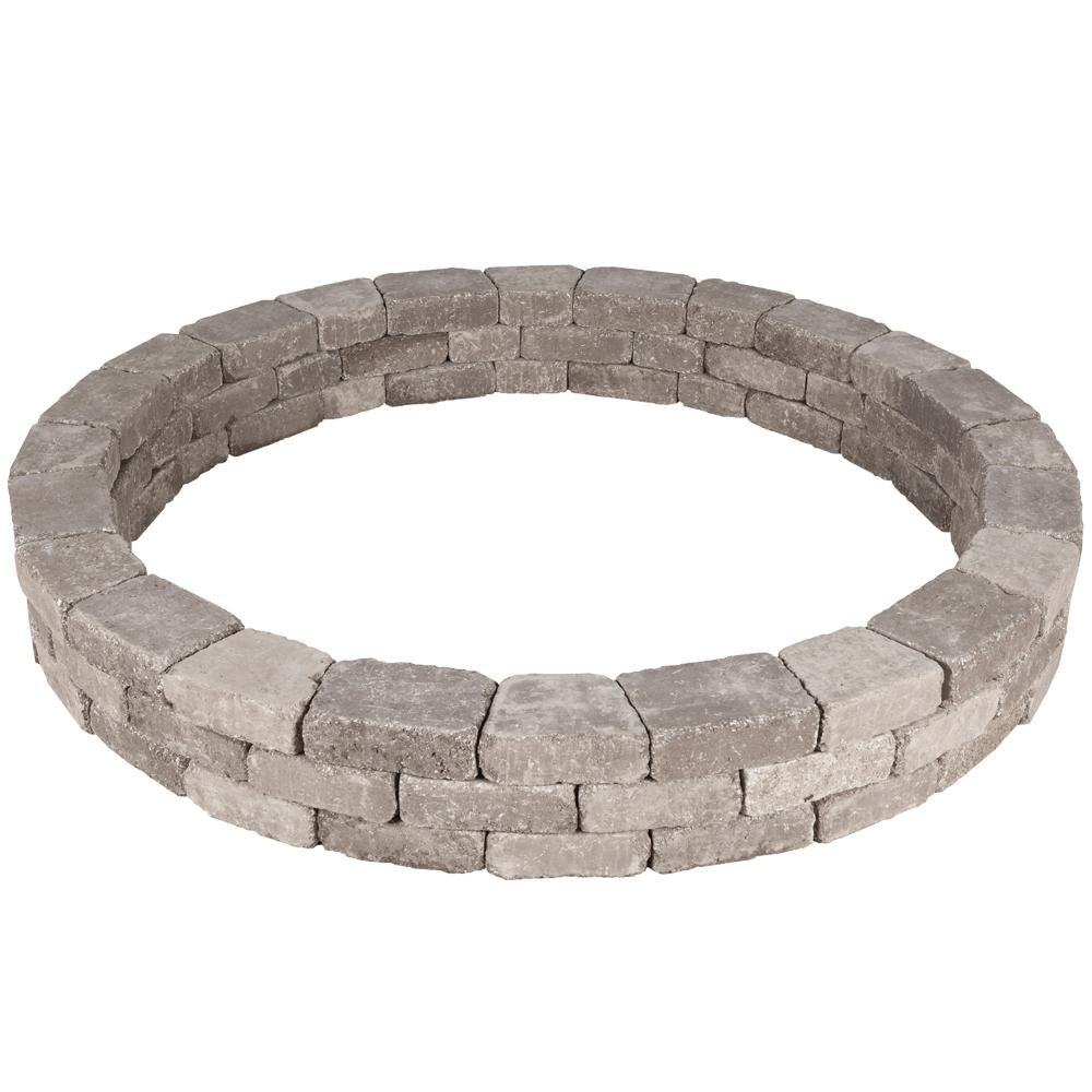 79.5 in. x 10.5 in. RumbleStone Tree Ring Kit in Greystone