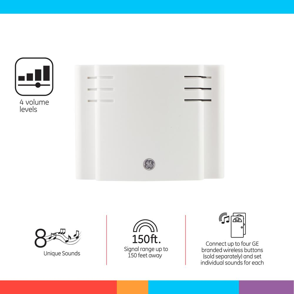 The Ge Eight Chime Wireless Door Provides A Do It Yourself Project For Home Or Office Program Individual Sounds Multiple Doors Using Up