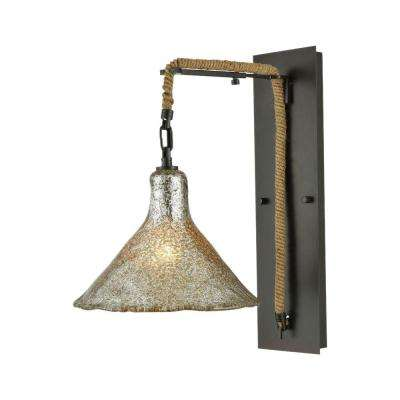 Hand Formed Glass 1-Light Oil Rubbed Bronze LED Wall Sconce