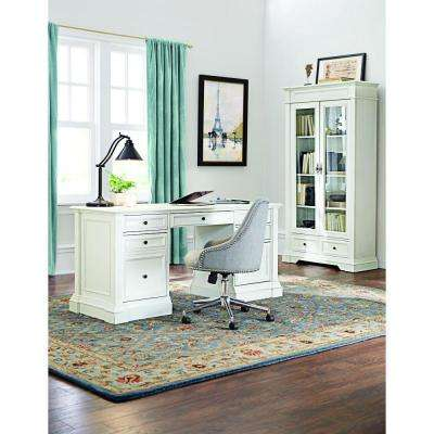 Buffors Rubbed Ivory Desk with Storage
