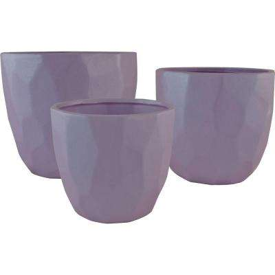 purple ceramic pots