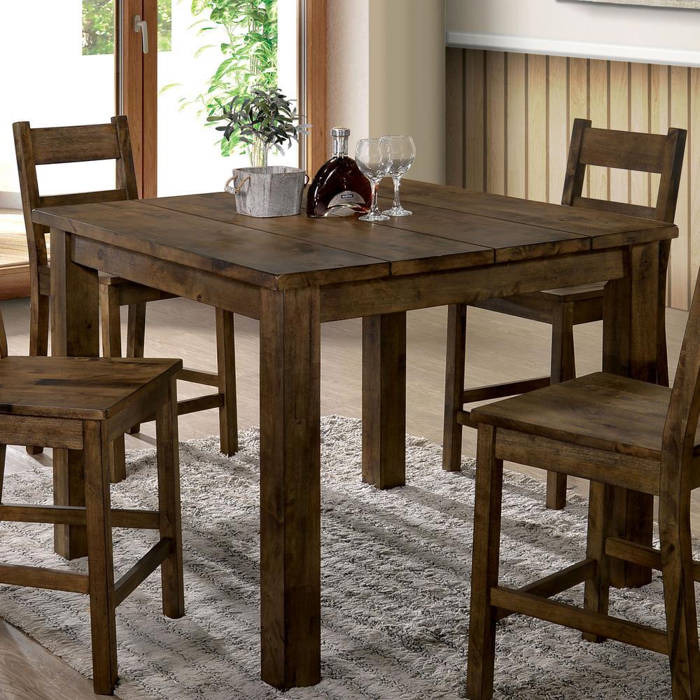 Furniture Of America Adam Rustic Oak Counter Height Dining