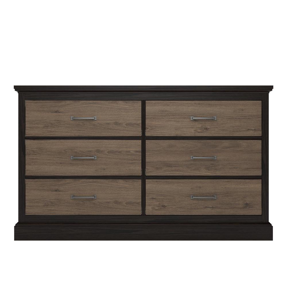 Noel 6-Drawer Rustic Oak Dresser