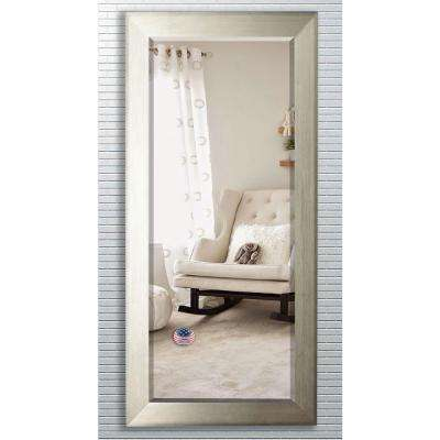 31.5 in. x 72 in. Brushed Silver Beveled Oversized Full Body Mirror