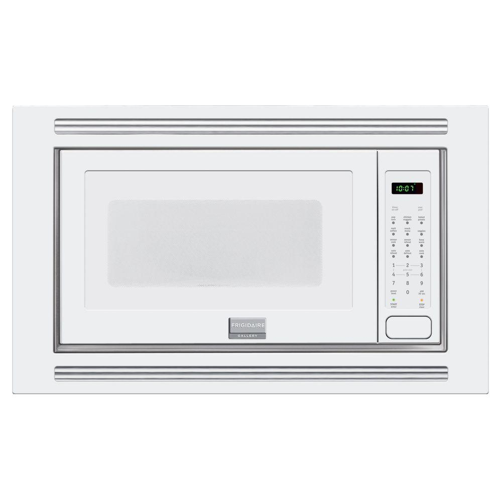 Frigidaire Gallery 2 0 Cu Ft Built In Microwave White With Sensor Cooking