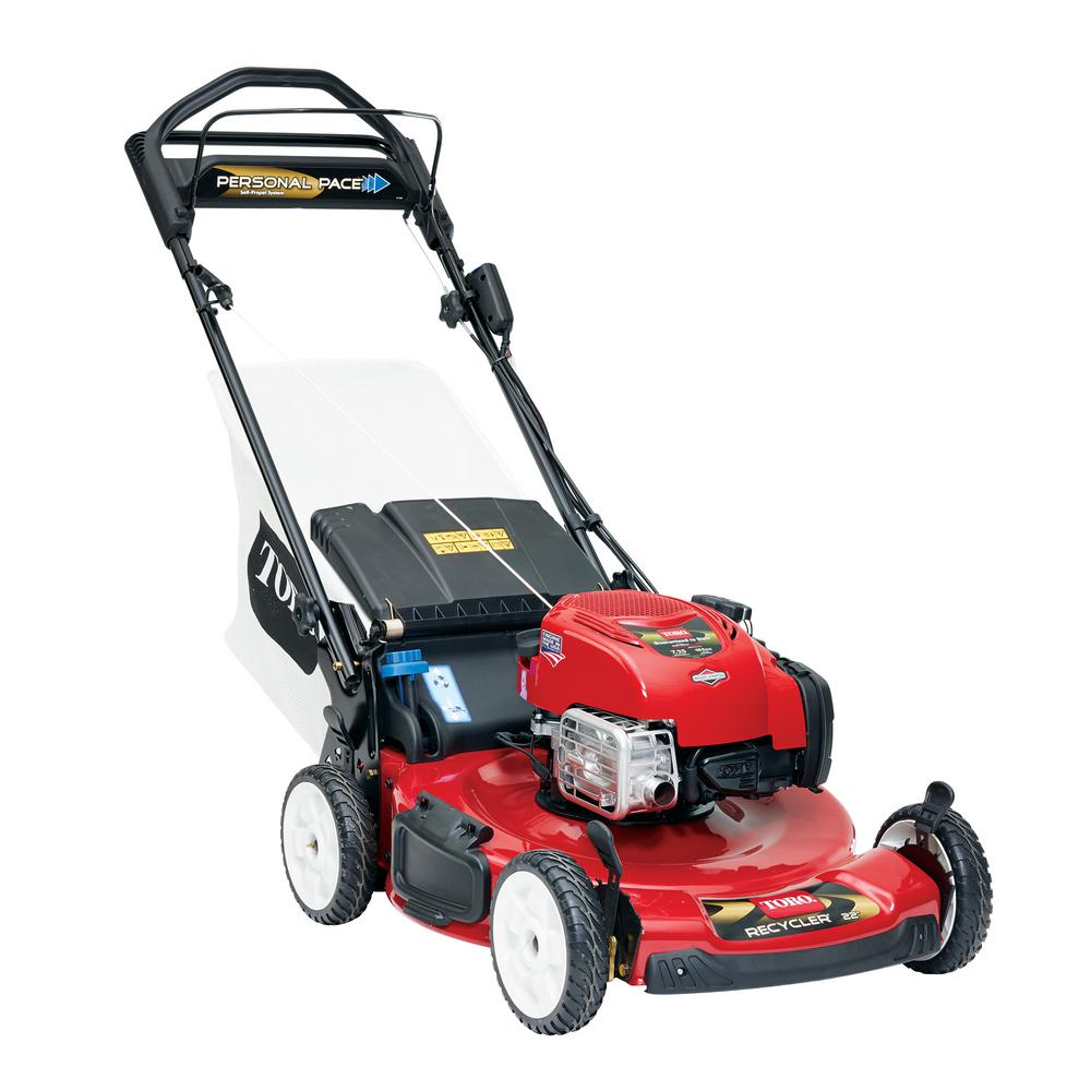 Toro Recycler 22 in  Briggs and Stratton Personal Pace Self Propelled Gas  Walk-Behind Lawn Mower with Electric Start
