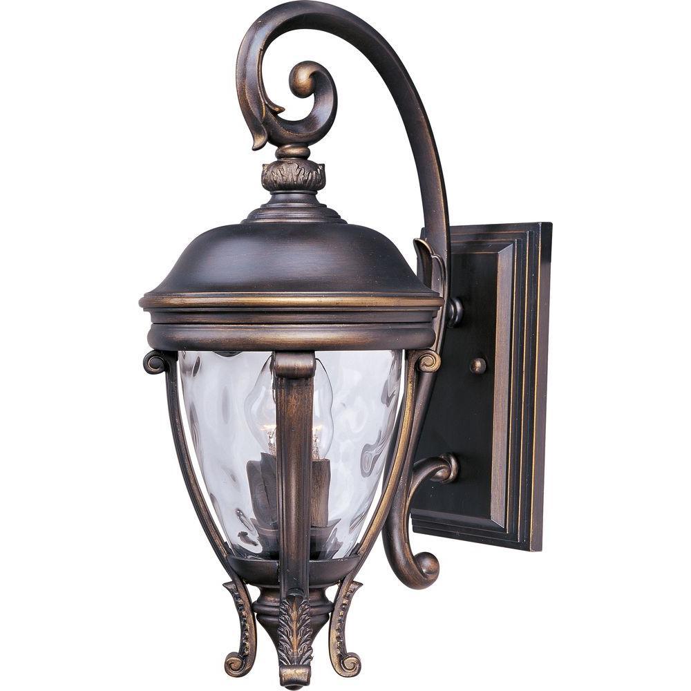 Maxim Lighting Camden Vivex 2 Light Copper Bronze Outdoor Wall Lantern Sconce