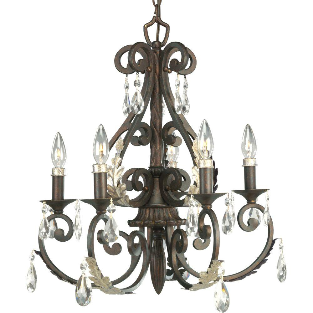 Thomasville Lighting Savona Collection 5-Light Cognac Chandelier