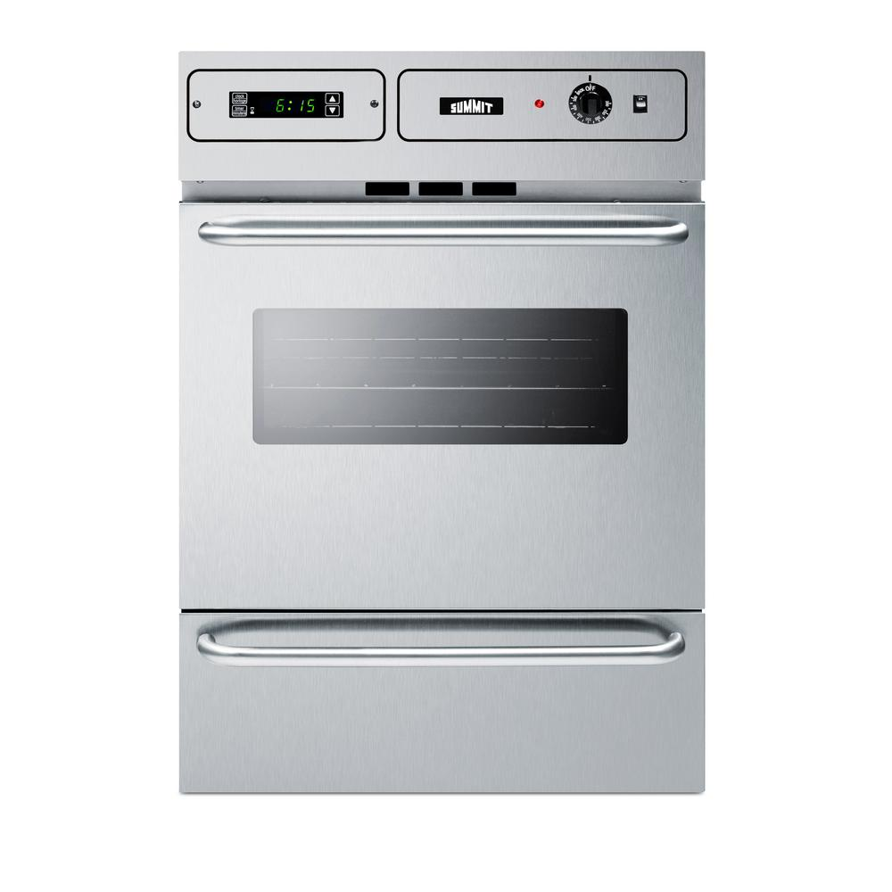 Summit 24 in. Single Gas Wall Oven in Stainless Steel (Si...