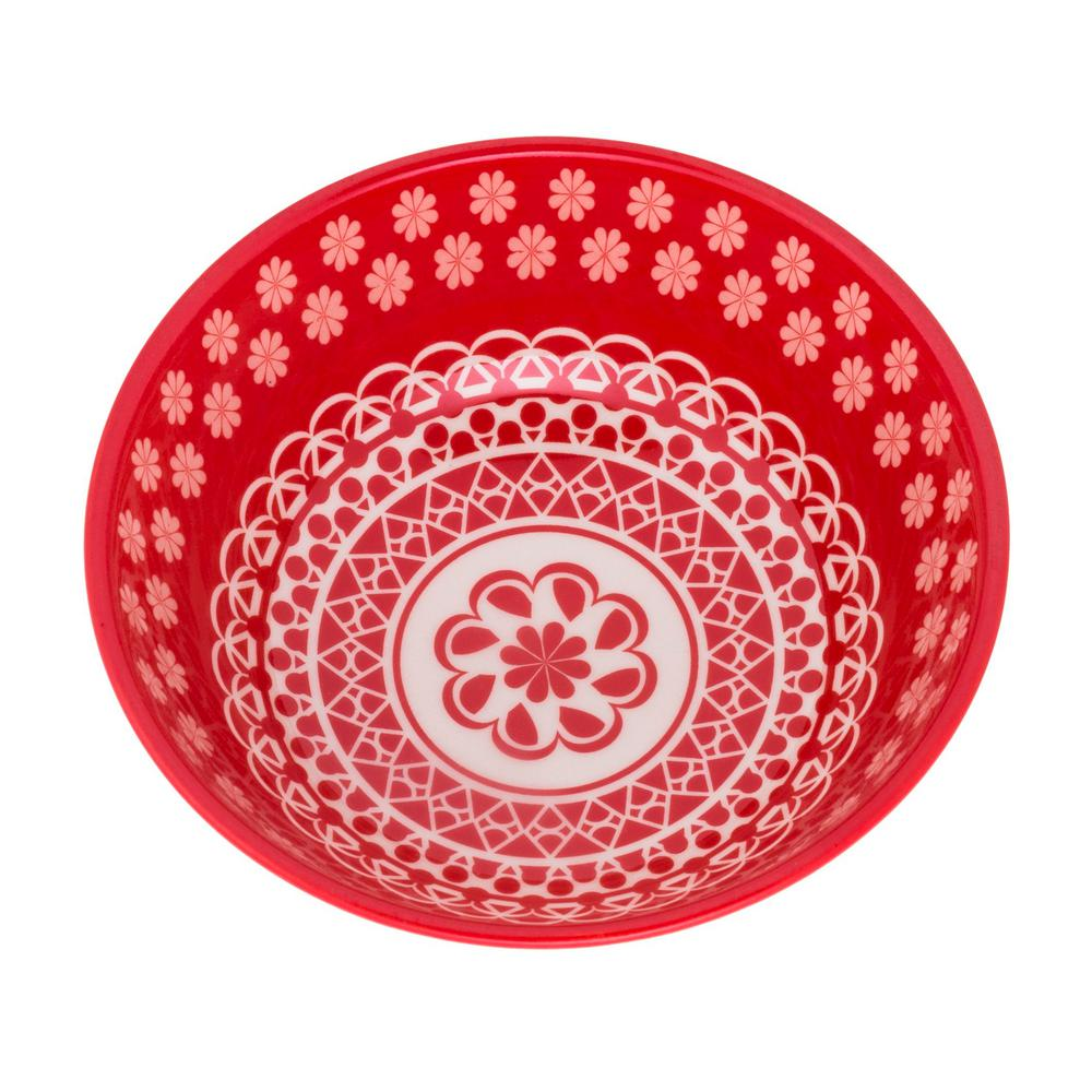 Manhattan Comfort Full Bowl 20.29 oz. Red Earthenware Soup Bowls (Set of 12) was $179.99 now $113.27 (37.0% off)