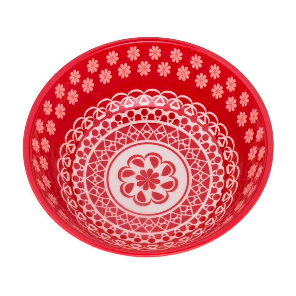 Full Bowl 20.29 oz. Red Earthenware Soup Bowls (Set of 12)