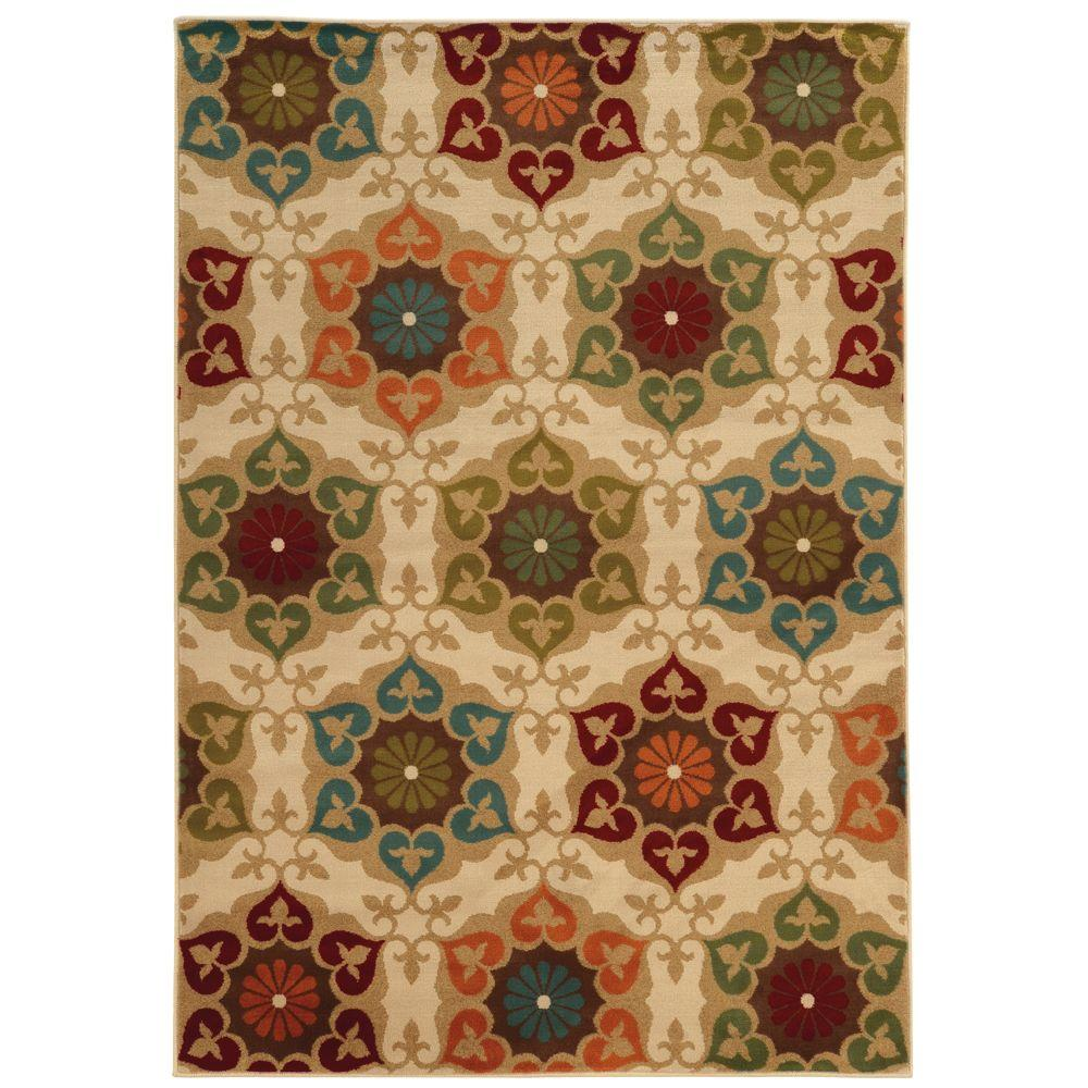 Home Decorators Collection Amelia Medallion Multi 5 Ft. 3 In. X 7 Ft. 6 In. Area  Rug 443161   The Home Depot