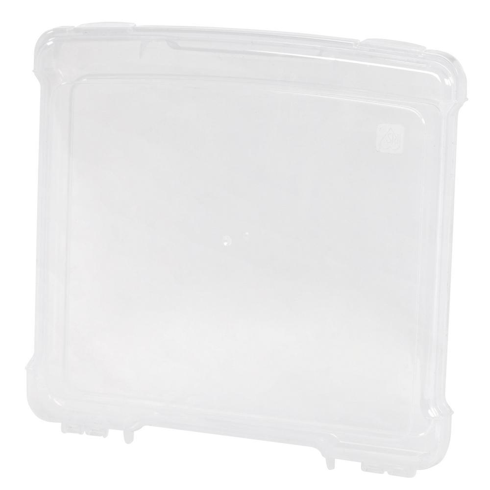 IRIS 4 Qt. Slim Portable Project Storage Box in Clear