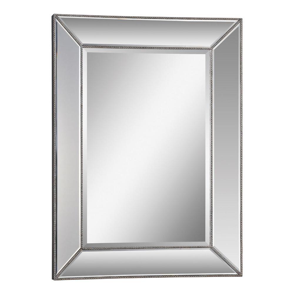 Luna 46 in. x 34 in. Silver Mirror