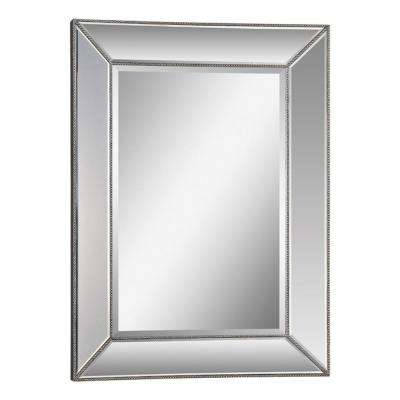 Luna 46 in. x 34 in. Silver Mirror