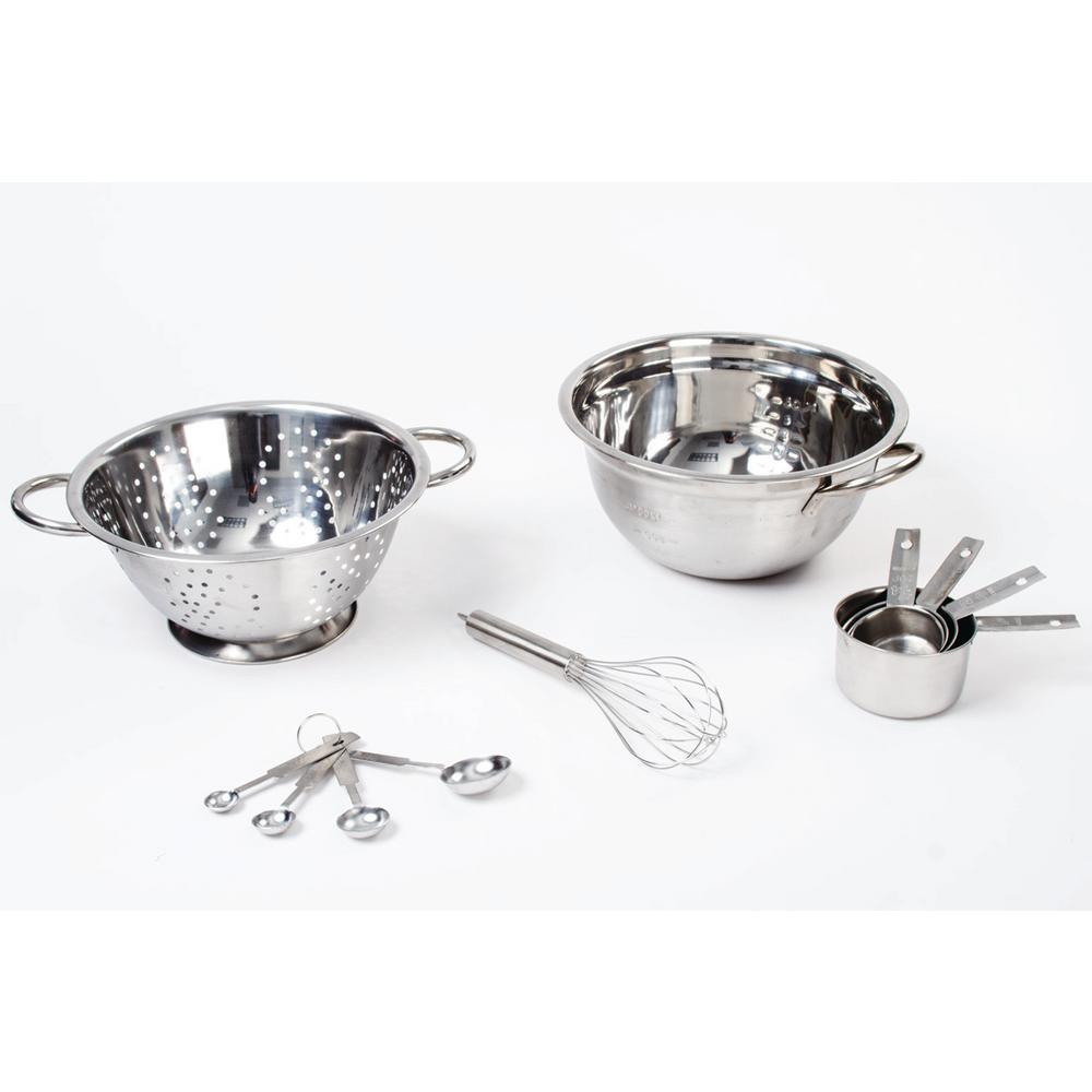 70098a06a4f 11-Piece Stainless Steel Mixing Bowl Set with Colander Whisk ...