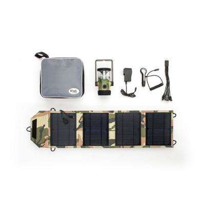 Heli 4400 Kit AC Wall Adapter/10-in-1/DC Car Charger/Carrying Case/14-Watt Solar Panel with USB Connection Camouflage