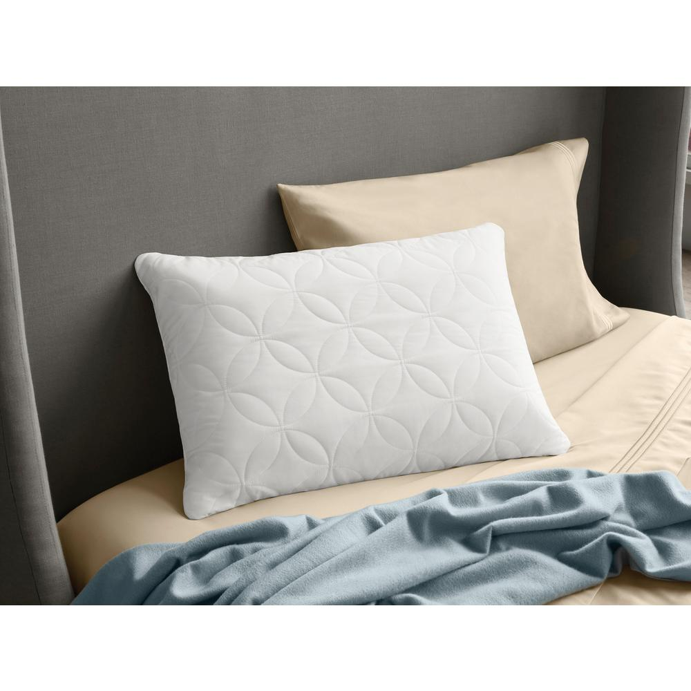 Cloud Soft and Conforming Queen Bed Pillow, White
