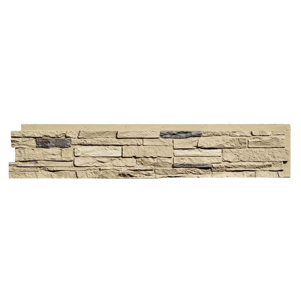 Slatestone 8.25 in. x 43 in. Faux Stone Siding Panel in Sahara (8-Pack)