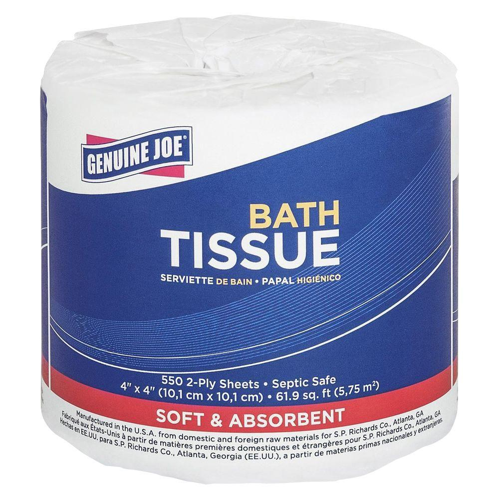 Embossed Roll Bath Tissue 2-Ply (550-Sheet/Roll)