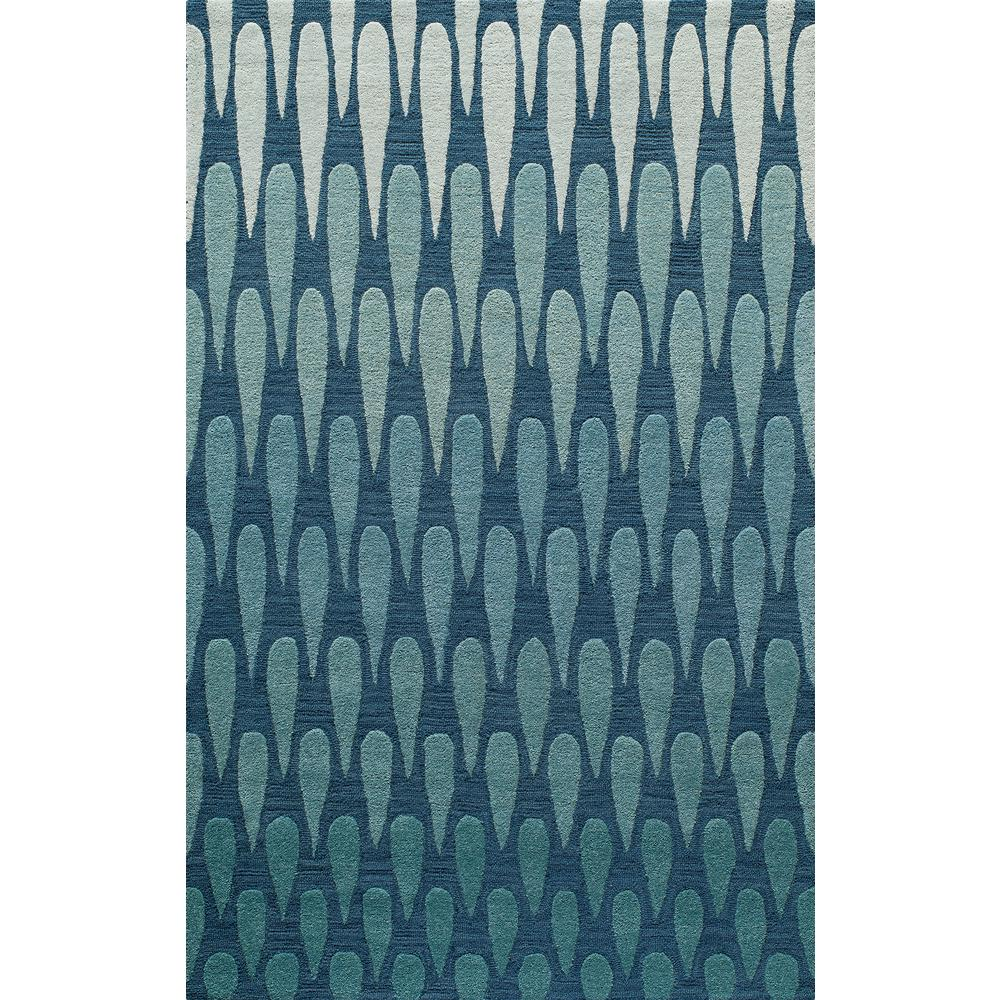 Dunes Blue 5 ft. x 8 ft. Indoor Area Rug