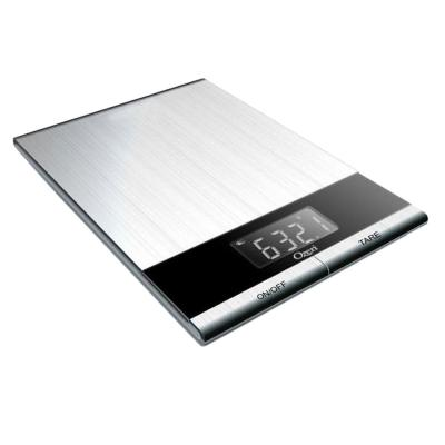 Ultra Thin Professional Digital Kitchen Food Scale in Elegant Stainless Steel