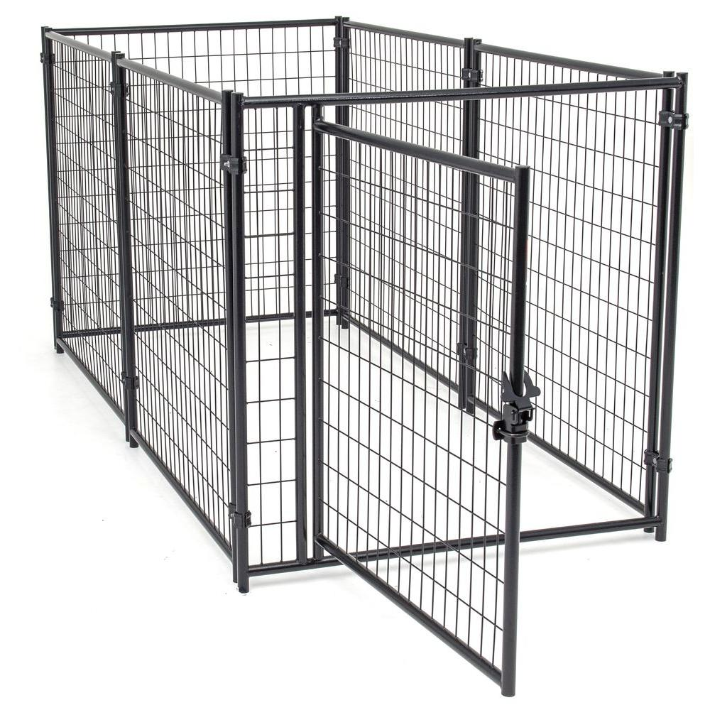 4 ft. W x 8 ft. L Modular Welded Wire Kennel