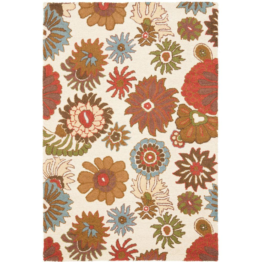 Blossom Ivory/Multi 5 ft. x 8 ft. Area Rug
