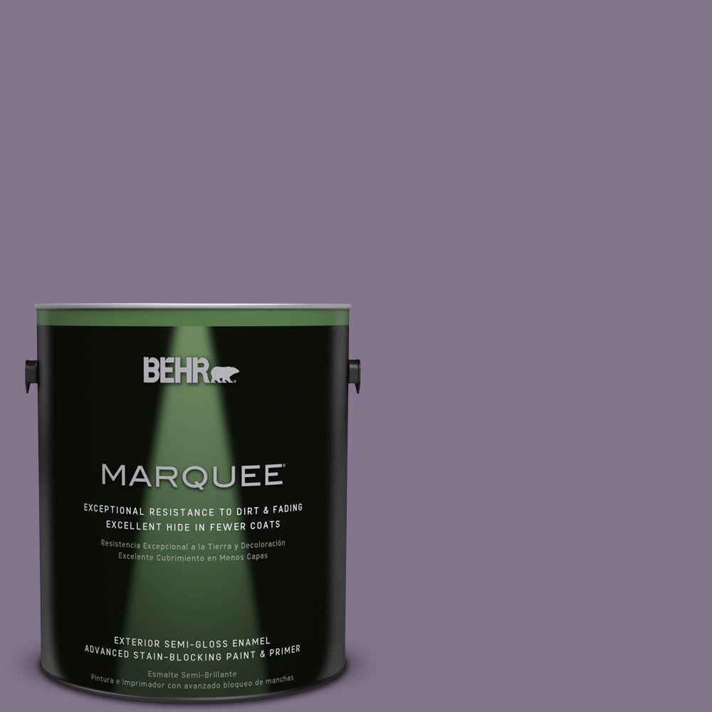 1-gal. #S100-5 Purple Potion Semi-Gloss Enamel Exterior Paint
