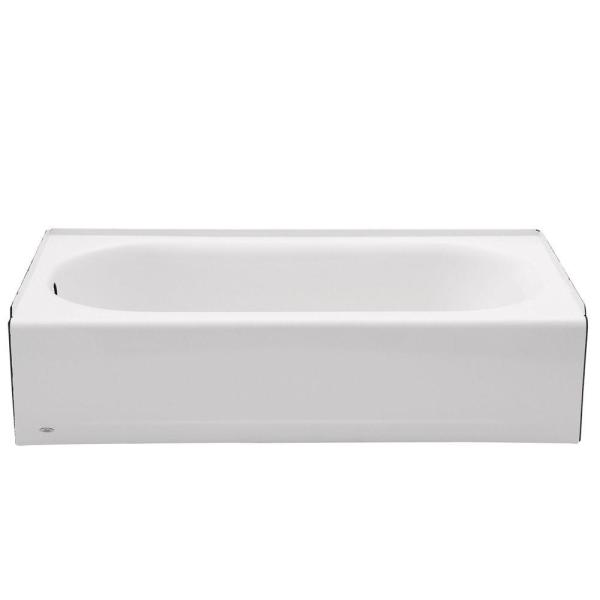 Princeton 60 in. Left Hand Drain Rectangular Alcove Bathtub in White