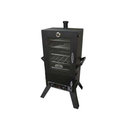 44 in. Vertical 2-Door Propane Gas Smoker with Window