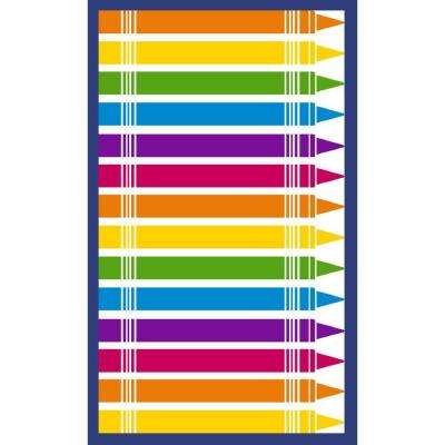 Pencils Multi 4 ft. x 7 ft. Indoor Area Rug