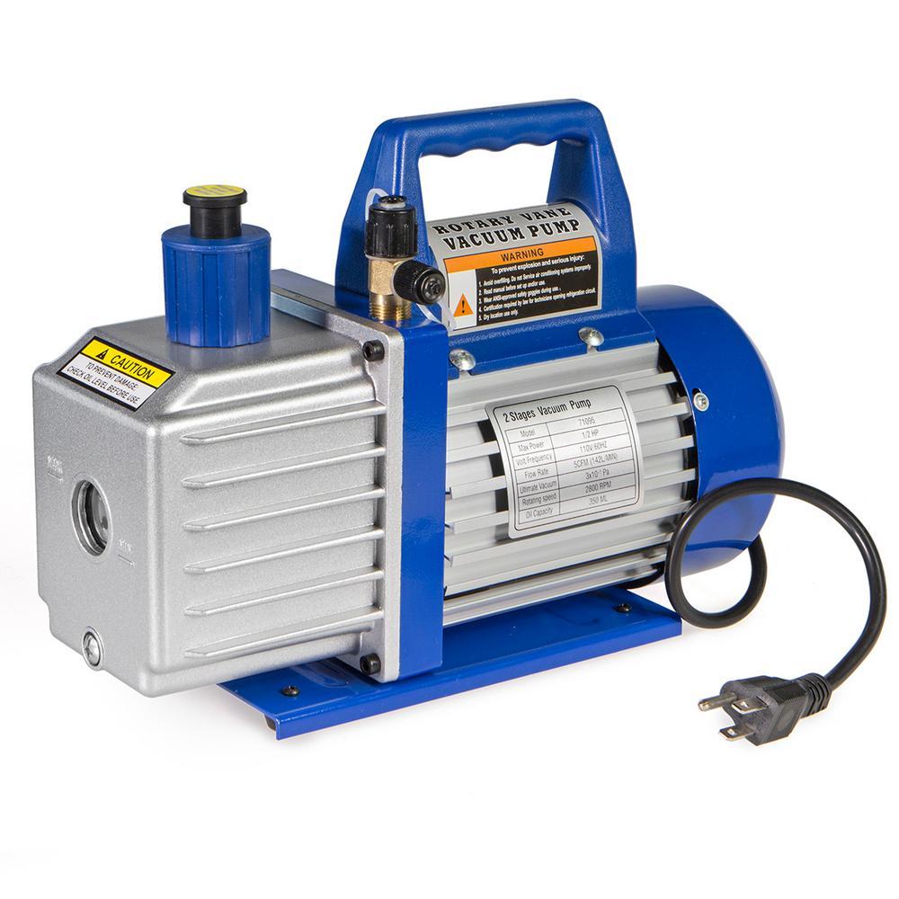 1/2 HP 5 CFM Rotary Air Vacuum Pump HVAC A/C Refrigerant