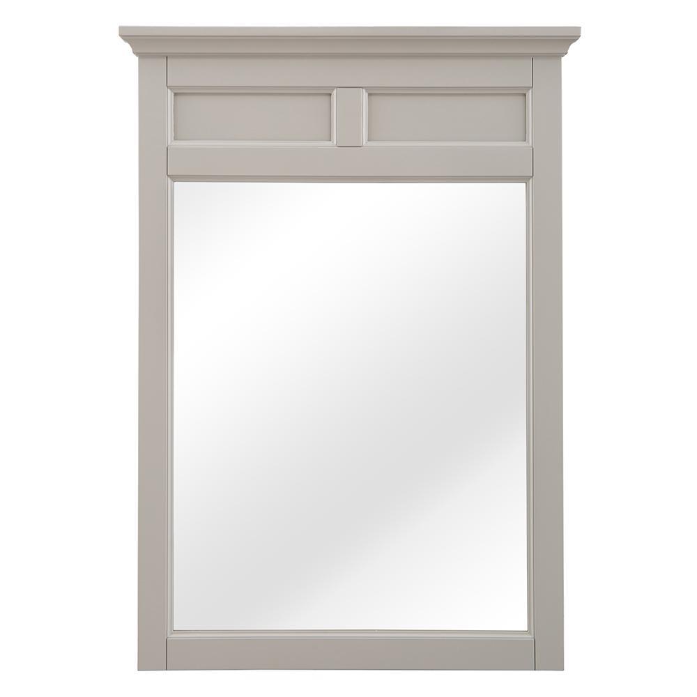 Evie 23 in W x 32 in. H Framed Wall Mirror in Grey