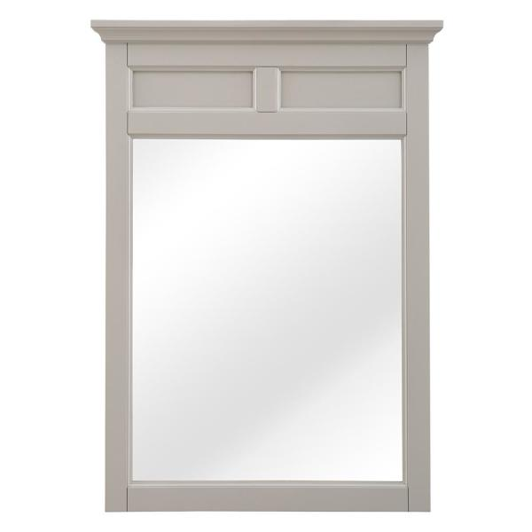 23 in. W x 32 in. H Framed Rectangular  Bathroom Vanity Mirror in Gey
