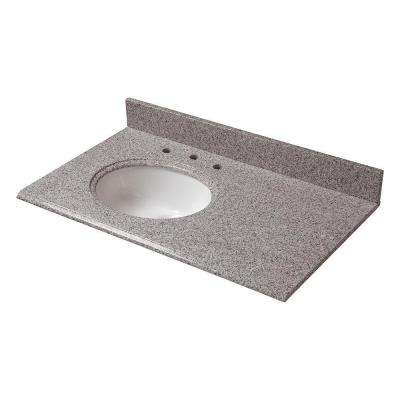 W Granite Vanity Top In Napoli With Offset Left Bowl And 8