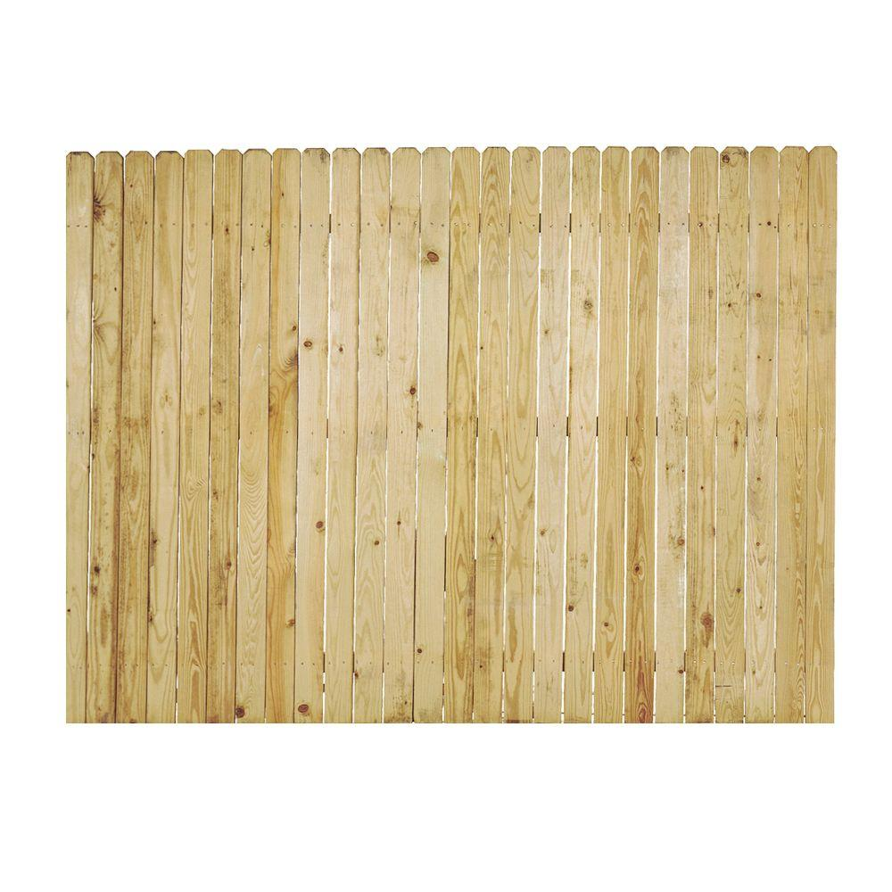 6 Ft X 8 Ft Pressure Treated Pine 4 In Dog Ear Fence Panel 102580