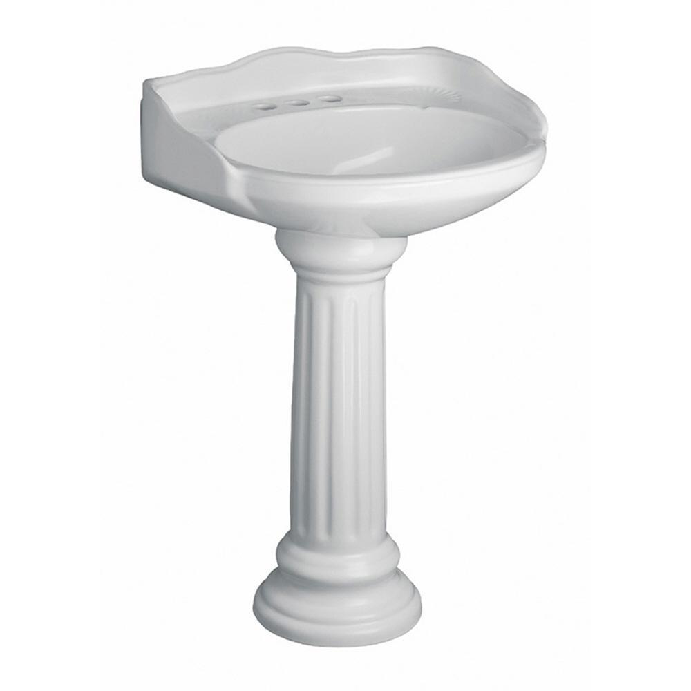 Pegasus Vicki 22 in. Pedestal Combo Bathroom Sink in White