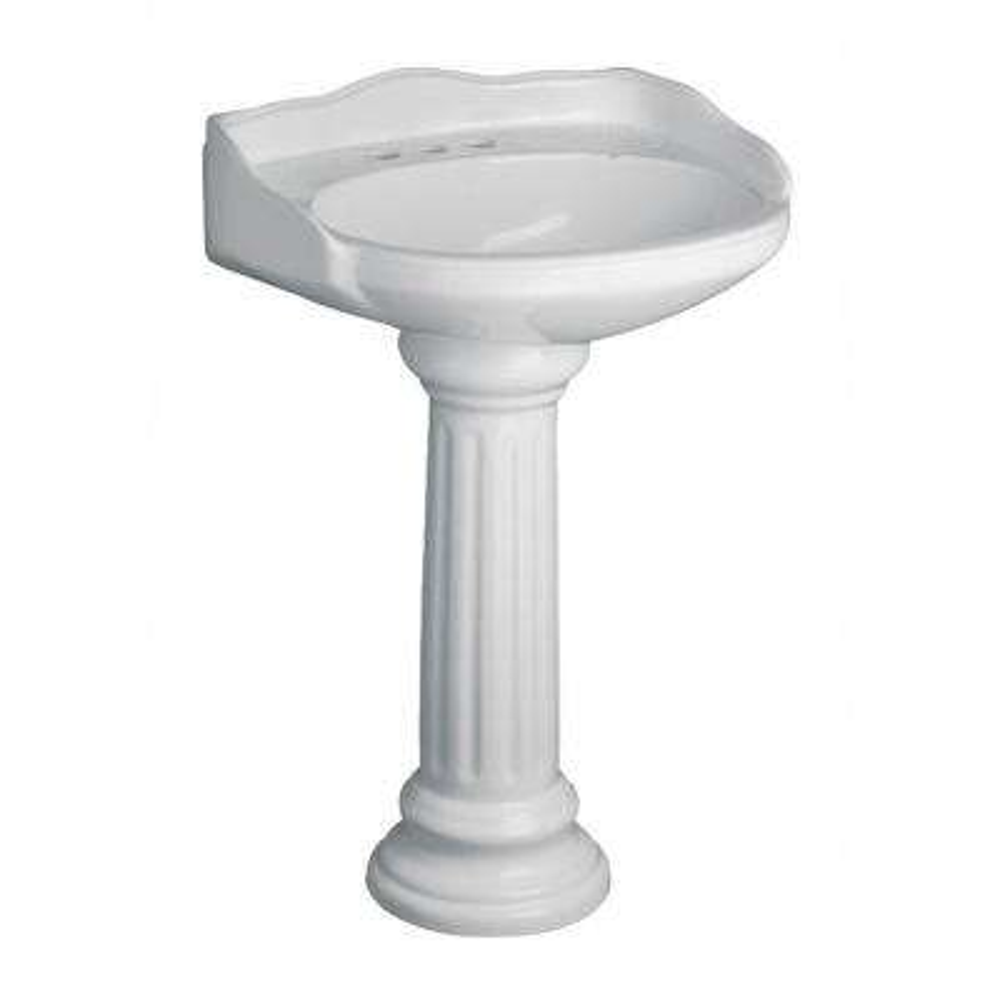 Vicki 22 in. Pedestal Combo Bathroom Sink in White