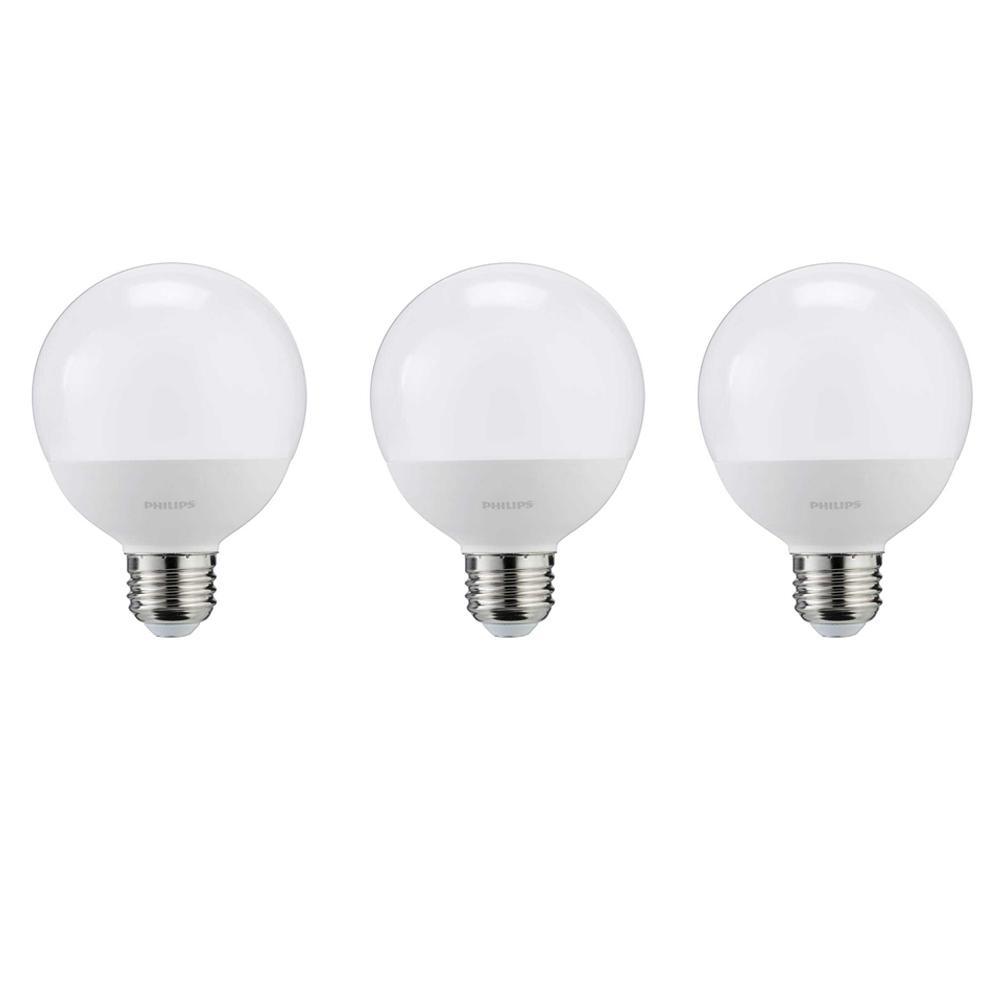 Philips 60 watt equivalent g25 led light bulb daylight frosted globe energy star 3
