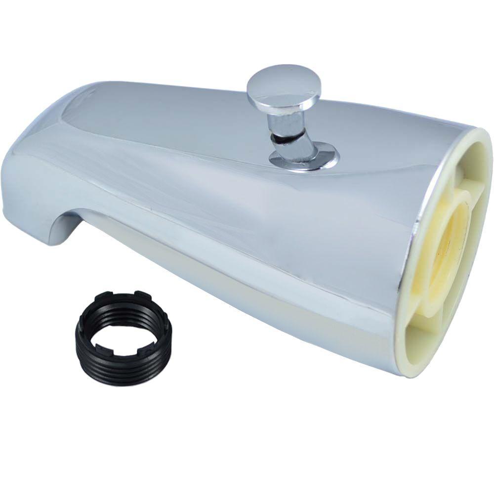 PartsmasterPro Tub Spout with Back Diverter, Chrome-58247 - The Home ...