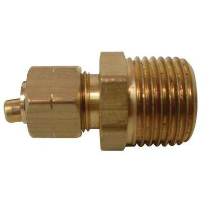 3/8 in. O.D. Compression x 1/2 in. MIP Brass Adapter Fitting (2-Pack)