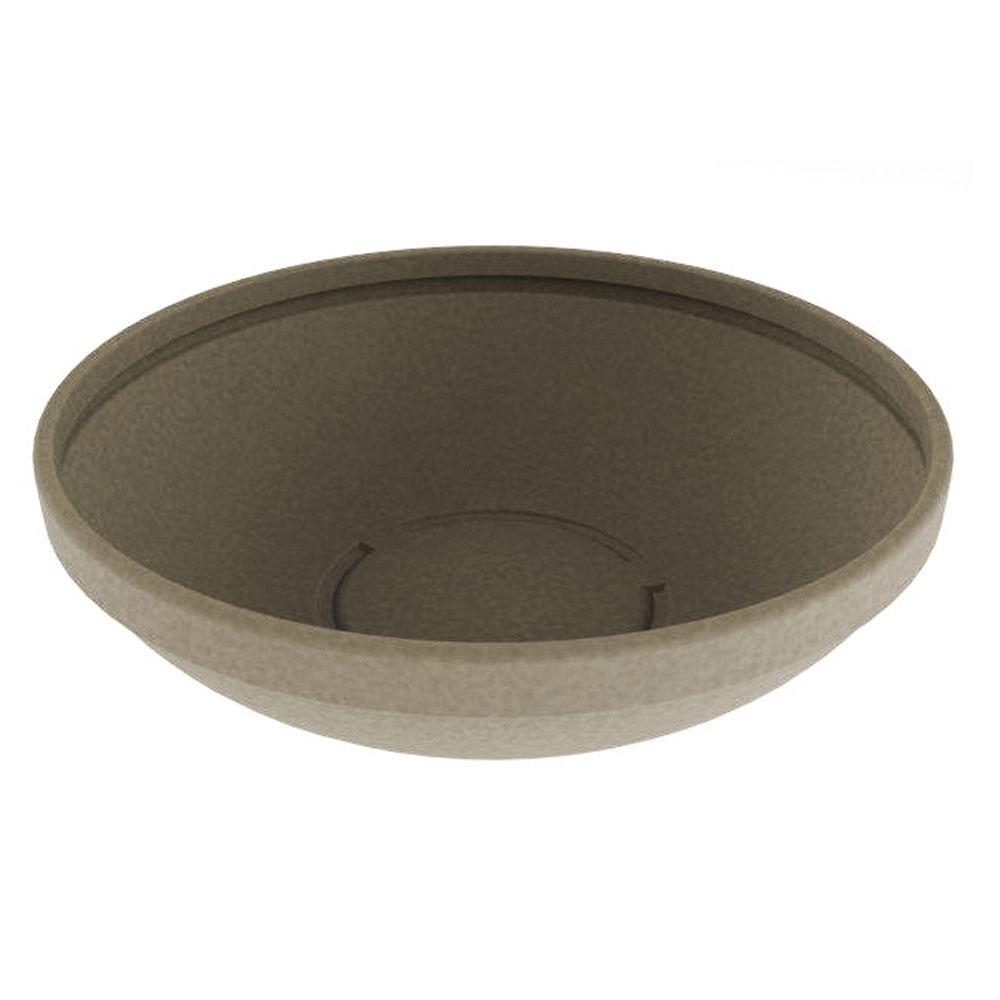 Terracast 37 in. Round Sandstone Granite Low Resin Bowl
