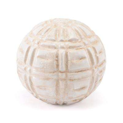 Ivory Kaban Orb Decorative Vase