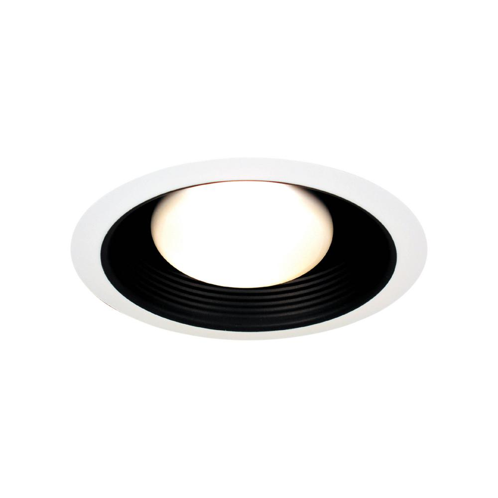 thomas lighting 6 in white with black baffle fully enclosed