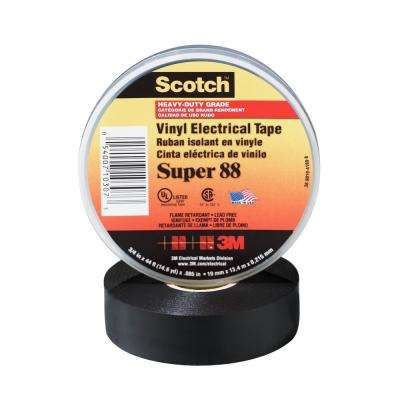 Scotch 3/4 in. x 66 ft. x 0.0085 in. Super 88 Vinyl Electrical Tape (Case of 100)