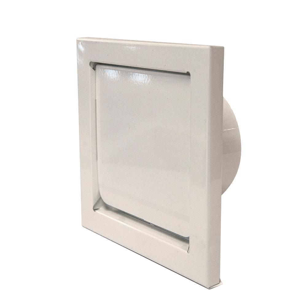 4 in. Round Wall Vent - Flush Mount in White