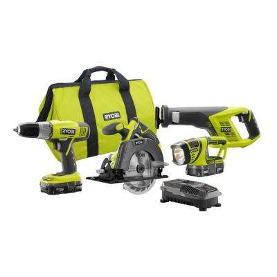 18-Volt ONE+ Lithium-Ion Cordless Super Combo Kit Plus 18-Volt ONE+ 4.0Ah Lithium-Ion High Capacity Battery Pack